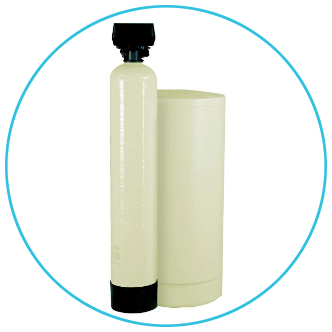 Fleck Water Softener with Brine Tank