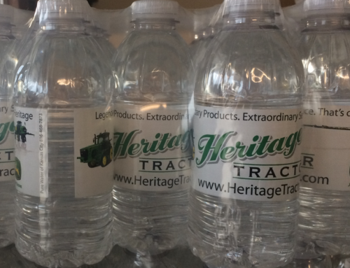 Custom Label Water Bottle – Tractor Client
